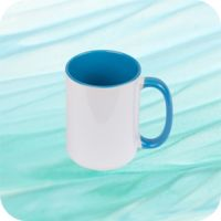 Two Tone Mug 15oz - Lt. Blue Thumbnail