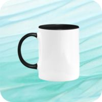 Two Tone Mug 11oz - Black Thumbnail
