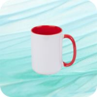 Two Tone Mug 15oz - Red Thumbnail