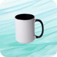 Two Tone Mug 15oz - Black Thumbnail