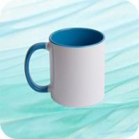 Two Tone Mug 11oz - Lt Blue Thumbnail