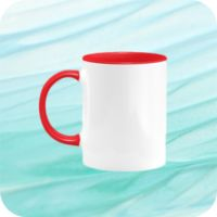 Two Tone Mug 11oz - Red Thumbnail