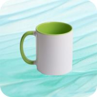 Two Tone Mug 11oz - Green Thumbnail